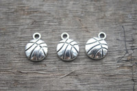 antique basketball - 30pcs Basketball Charms Antique Tibetan Silver Tone basketball charm pendants sports charms x10mm