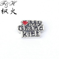 Wholesale Love My Grand Kids Floating Charms For Memory Glass Lockets China Charms