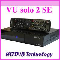 Cheap Mini vu solo 2 se twin tuner decoder dvb-s2 tuner STB vu solo2 se hd Linux OS Digital satellite tv receiver DHL free shipping