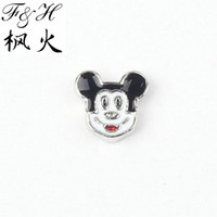 Charms animal charms - Lovely Mouse Floating Charms For Memory Glass Lockets Animal Charms
