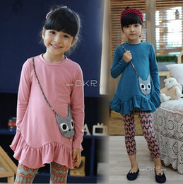 Wholesale Autumn Spring Children Dress Pure Cotton False Bab Long Sleeve Girl Cute Dresses Both Colour In Stock Kids Dress Child Clothing GX911