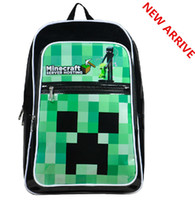 Wholesale New arrival only pieces left minecraft creeper backpack school book bag cute backpack for youth minecraft kids teenagers