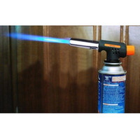 Precio de De gas de soldadura de hierro-Al por mayor-OP-Gas Butano Lanzador de llamas de soldadura autógena Pistola Hierro encendedor Quemador Fuego Llama de Inicio
