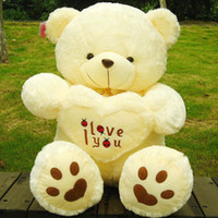 Wholesale Details about Stuffed Beige Lovely Big Plush Teddy Bear Soft Gift for Valentine Day Birthday