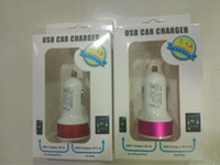 Cheap The Car Charger 3.1 double double Car Charger 5 v Car Charger 2 portsfor The iPhone 5 5 s iPod iPod touch HTC Samsung free shipping