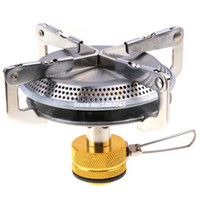 Wholesale OP Mini Outdoor Camping Stove Gas Powered Portable Picnic Stove Stainless Steel Dropshipping B16