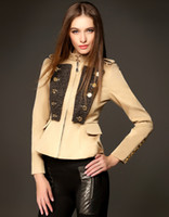 2014 Women British Style double- breasted Trench Coats Street...