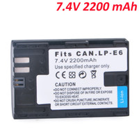 Wholesale New Arrival mAh LP E6 LPE6 Camera Battery Half Coded Version for Canon D D Mark III D Mark II D D
