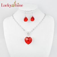 Luckyshine- - - 2014 new style Hot sell jewelry set red heart A...