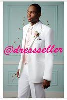 Cheap 2014 Custom Made Attractive White Groom Tuxedos Wedding Party Groomsman Suit Boys Suit 4 Piece (Jacket+Pants+Tie+Vest) Bridegroom Suit