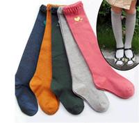 Cheap top autumn girl huf socks cotton lace princess socks Cute animals hosiery for female treasure children child leggings socks