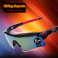 Wholesale 12 Color Bicycle Sunglasses Road Cycling Goggles Mountain Bike Cycling Glasses Sunglasses Anti Explosion uv400l Riding Goggle