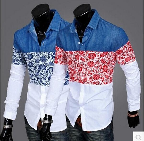 New Autumn Fashion Joining Together Men's Long Sleeve Solid Casual ...