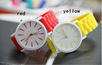 Wholesale 2014 Newest Geneva Wrist Watch Candy Silicone Pointer Rock Crystal Watch Fashion Ultrathin Jewelly Watchband Gifts for Christmas New Year