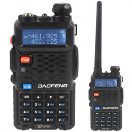 Wholesale BF F8 Porable BAOFENG Dual Band Walkie Talkie Ham two way Radio with Emergency Alarm Scanning Function SEC_034
