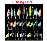 Cheap Hot 30pcs lot Fishing Lure Mixed color Size Weight  Hook Diving depth Metal Spoon Lures hard bait fishing tackle Free ShipHot 30pcs lot Fish
