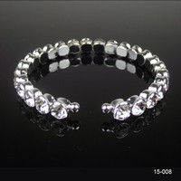 Cheap 2014 New Cheap 1 Bow Rhinestone Crystals Bangle Bracelet Wedding Party In Stock Bridal Jewelry Accessories Free Shipping 15008
