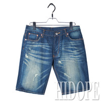 Cheap New Arrival 2014 Heybig New Fashion Casual Jeans Shorts Men Washing Ripped Jeans Denim Shorts