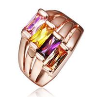 Wholesale Imported zircon gemstone inlaid ring fashion female