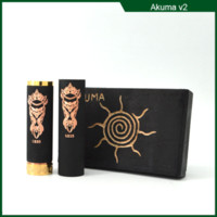 Wholesale Black Akuma Mod Newest and Hottest Akuma Mod magnetic switch Copper Tube Battery Body Rebuildable Suitable for battery