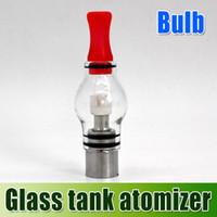 DHL free !! Glass Tank Atomizer Bulb Vaporizer Wax Concentra...