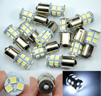Wholesale 10PCS bulb led light smd P21W Brake Tail Turn Signal Light Bulb Lamp V white blue yellow red LF07