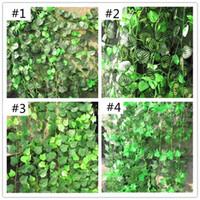 Wholesale Artificial Begonia Leaf Green Dill Potato vine grape Vine leaf Ivy Floral Decor Wall Decoration Artificial Flowers