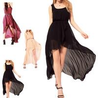 Cheap women summer dress 2014 Chiffon Beach Boho Maxi Sundress Long Irregular Dress Summer YE3088-30