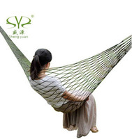 Wholesale Summer Lightweight Nylon meshy hammock light and portable Single Max load KG cm mix color
