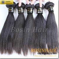Wholesale Brazilian Silky Straight Hair Unprocessed Human Hair Extension Jet Black Grade A Bundles Silky Straight Hair