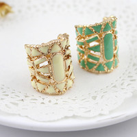 Wholesale Fashion jewelry hot sale hollow out enamel vintage finger rings