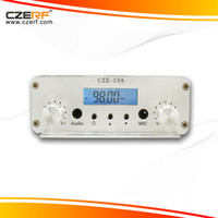 Cheap Free Shipping CZE-15A 15w vacuum tube amplifier fm transmitter kit power supply+audio cable+GP antenna