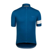 Wholesale 2014Rapha Tops Short Sleeve Dark Blue Cycling Jerseys Lightweight Perspiration Breathable Bicycle Jersey Wearability Jerseys