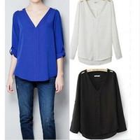 2016 Fashion Blouses Shirts New Autumn Chic Women Chiffon Bl...