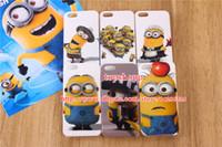 achat en gros de anime cas iphone 5c-Dessin animé méprisable Me2 mignon Minion sbires Me Soft TPU silicone Etui Housse pour iPhone 4 4 s 4 5 5 5 s 5 C iphone5 ipod touch 4 5 4e 500pcs
