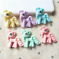 Wholesale For Hair Bow Phone Scrapbooking Decoration Craft DIY Cute Pony Resin Gift E801
