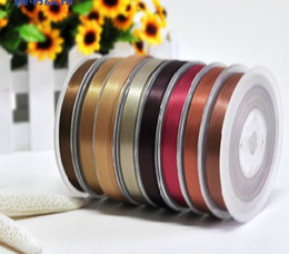 Wholesale 100 yards Double faced Satin ribbon Deep Brown mm