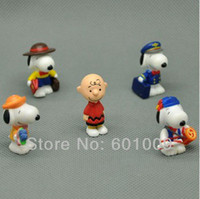 Cheap Free Shipping Cute 5 Rare Htf Snoopy Collectable Figure's Lot Wholesale And Retail