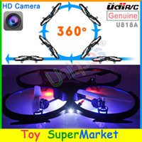 Cheap Free Ship UDI U818A RC Quadcopter with Camera Remote Control Helicopter Big Quadrocopter 4CH Gyro UFO Drone with Camera 2014 New