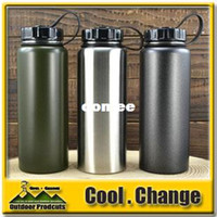 Wholesale OP Outdoor Sports ml Wide Mouth Stainless Steel Water Bottle Handy Cup Large Capacity Office Kettle ZSC