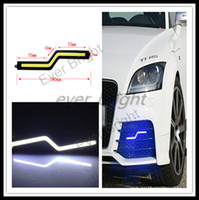 Cheap 10pairs(200pieces) 2014 NEW 12V DC 5W COB DRL Z Shape 18CM Car Led Daytime Running Light Fog Driving Lamp High Power