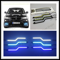 Cheap 5pairs(10pieces) 2014 NEW 5W COB DRL Z Shape 18CM Car Led Daytime Running Light Fog Driving Lamp