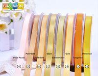 polyester satin ribbon - 100 yards ribbon Double faced Satin ribbon Yellow inch mm Orange Gold