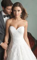 Wholesale Custom Made Vintage Wedding Dresses A Line Organza Bridal Gowns Sweetheart Chapel Train Zipper White and Black Wedding Dress Hot