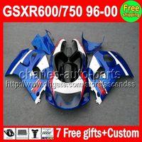 Stock blue 7gift For SUZUKI GSXR600 750 SRAD 96- 00 GSXR 600 ...