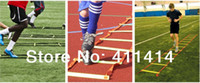 Wholesale FEDEX Freeshipping M Soccer Training Speed agility ladder Quick Flat Rung Agility Ladder Carry Bag