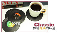 Wholesale Hot Sale DHL sets set Spinning Retro Vinyl Record Drinks Coasters Vinyl Coaster Cup Mat