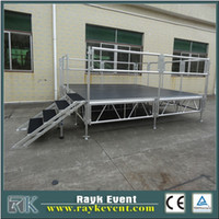 Wholesale Rk Aluminum mobile stage and non slip stage platform with stair