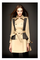 2014autumn Women British Style double- breasted Trench Coats ...