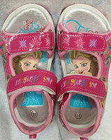 Wholesale 2014 New Arrived Elsa Anna Princess Girl Sandals Shoes Size Girl Sandals Match kid Dress